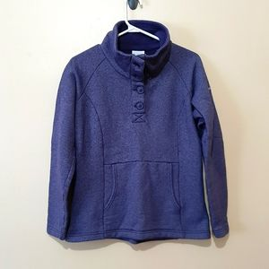 Columbia Purple Button Up Sweater